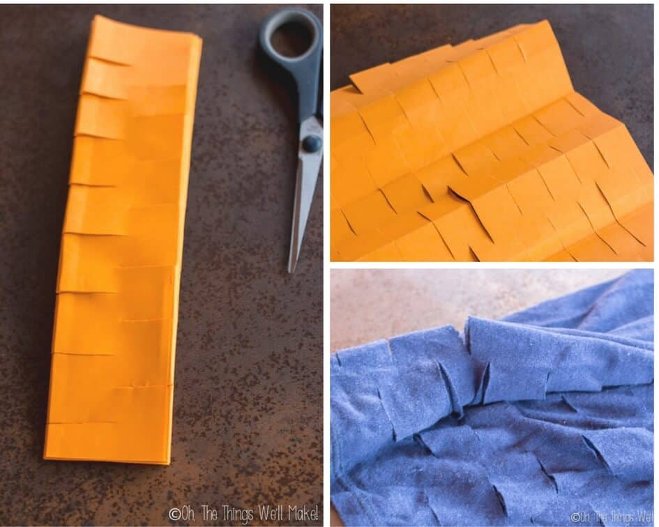 accordion method of cutting a produce bag