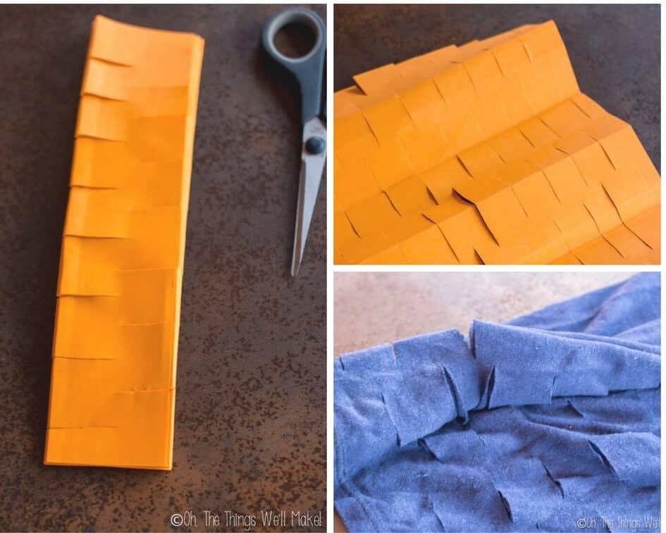 accordion method of cutting a produce bag