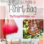 several ways to make a t-shirt bag