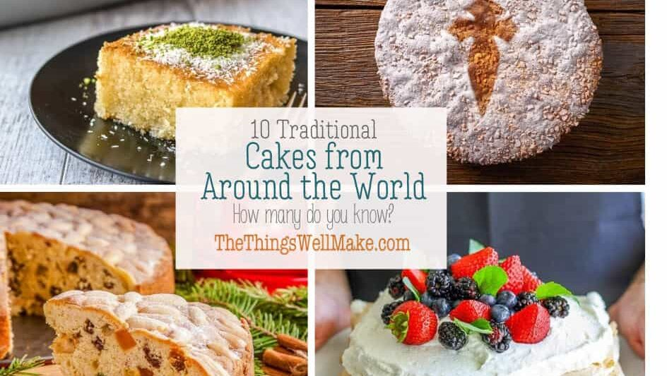 From France's Galette des Rois, to Japan's mochi, cakes come in a variety of shapes and colors. Discover these traditional cakes from around the world. #cakes #international #traditional