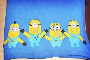 Stamping Fabric: Make a Minion T-shirt
