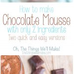 This two ingredient, easy chocolate mousse can be whipped up in a matter of minutes, and it's rich, smooth creaminess has made it a family favorite.