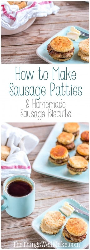 Homemade sausage biscuits are the best, especially when you know how to make sausage patties. They are super simple to make, and they taste great. Plus, you can make them ahead and freeze them for whenever you want a treat.