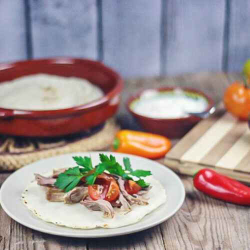 Crispy on the outside, yet moist and flavorful, these slow cooker pork carnitas are so easy to make that you'll have plenty of time leftover for making some homemade corn tortillas. They are also excellent served with my paleo flaxseed tortillas.