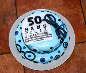 Hans's 50th Surprise Birthday Optometrist Cake