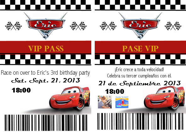 Homemade Cars Pit Pass Invitation Template and Tutorial Oh The – Vip Ticket Invitations