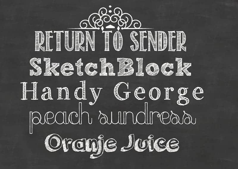 "Take a keepsake back-to-school photo with a DIY ""chalkboard"" printable sign. I'll show you mine and share a free chalkboard background and links to fonts."