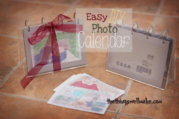 Homemade Calendars With Photos : Holiday gift ideas diy photo flip calendar oh the