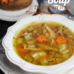Thanksgiving Leftover Soup (Turkey Rice Soup With Everyday Chicken Alternative) Don't throw the bones and skin away, instead make this nourishing and tasty Turkey Rice Soup, the best way to eat your Thanksgiving leftovers!