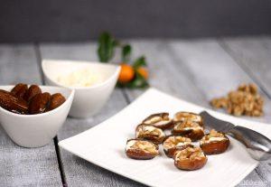 Cheese and Walnut Stuffed Dates