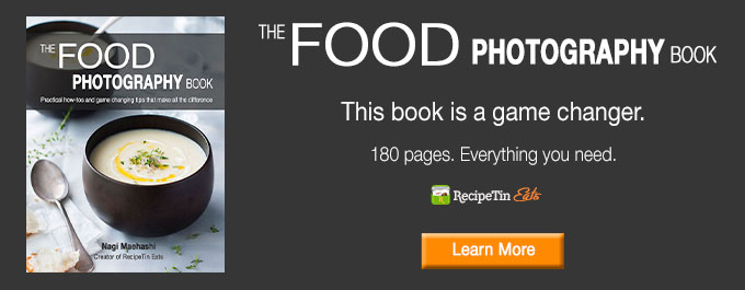 Landscape ad for The Food Photography Book