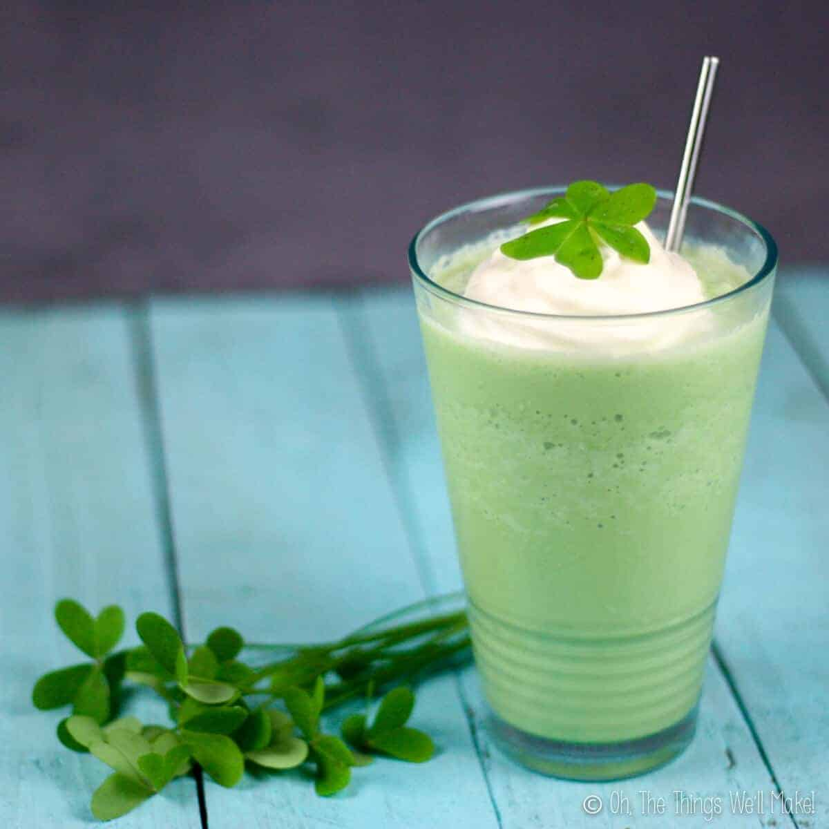 Naturally Colored Shamrock Shake (Real food)