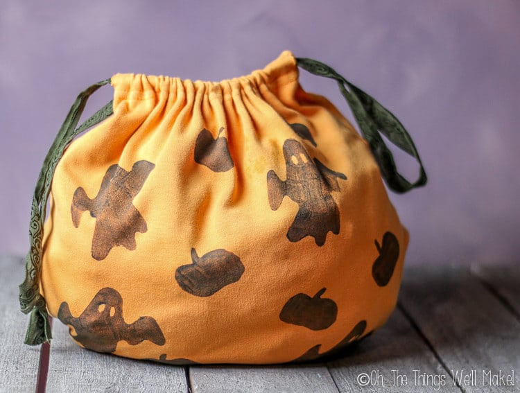 homemade trick-or-treat bag
