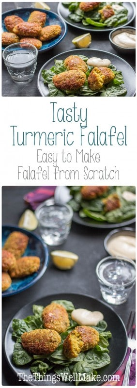 Making falafel from scratch isn't difficult; I've added turmeric to my easy falafel recipe for a bit of color, flavor and its health benefits.