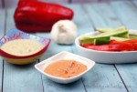 Raw Zucchini Hummus with a Roasted Red Pepper Variety - Oh, The Things We'll Make!