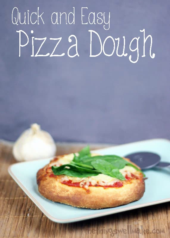 Beat the delivery guy with this quick and easy pizza dough recipe allows you to make a delicious homemade pizza from scratch in about 30 minutes.