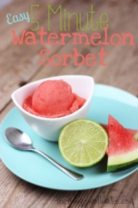 Easy 5 Minute watermelon sorbet