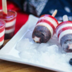 These patriotic popsicles are healthy, easy to make, and perfect for celebrating the fourth of July or any time you want to show off your patriotism.