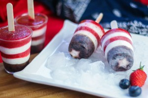 Fourth of July Patriotic Popsicles