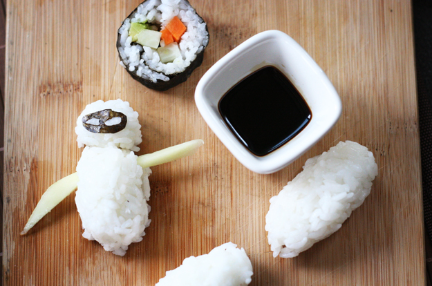Sushi Pickled Ginger - Oh, The Things We'll Make! (Wall-e Eve sushi)