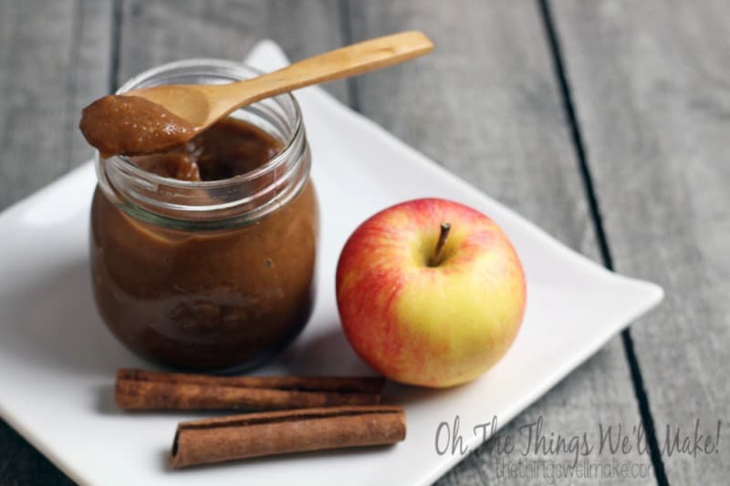 How to make an easy spiced apple butter in your slow cooker.