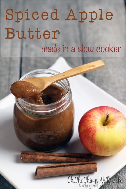 Spiced Apple Butter Made in a Slow Cooker