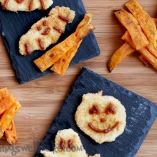 Grain Free Breaded Chicken with Baked Sweet Potato Fries