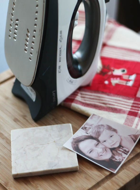 DIY Marble Photo Coasters