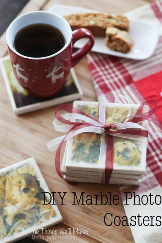 DIY Marble Photo Coasters - Oh, The Things We'll Make!
