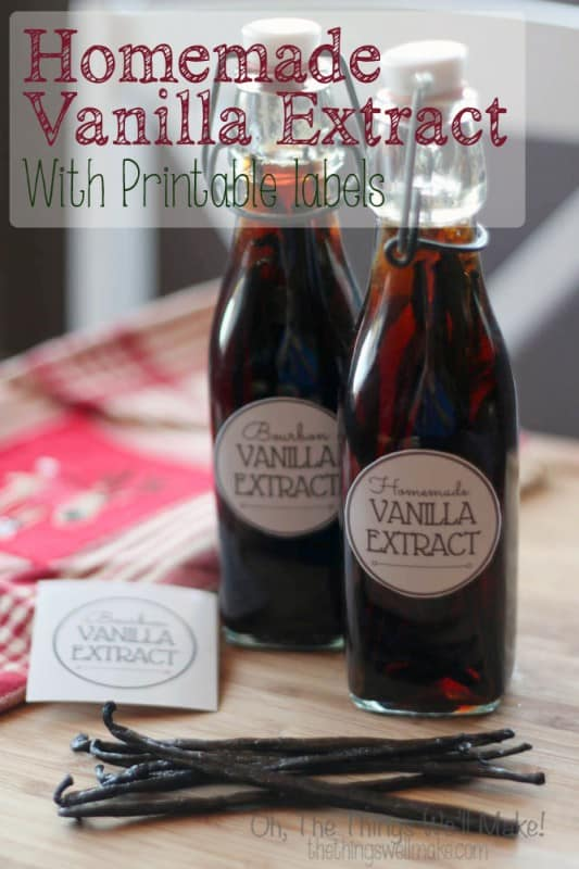 How to make homemade pure vanilla extract. featuring printable labels. Not only can you save money by doing it yourself, but you can also customize it to get the flavor you want.