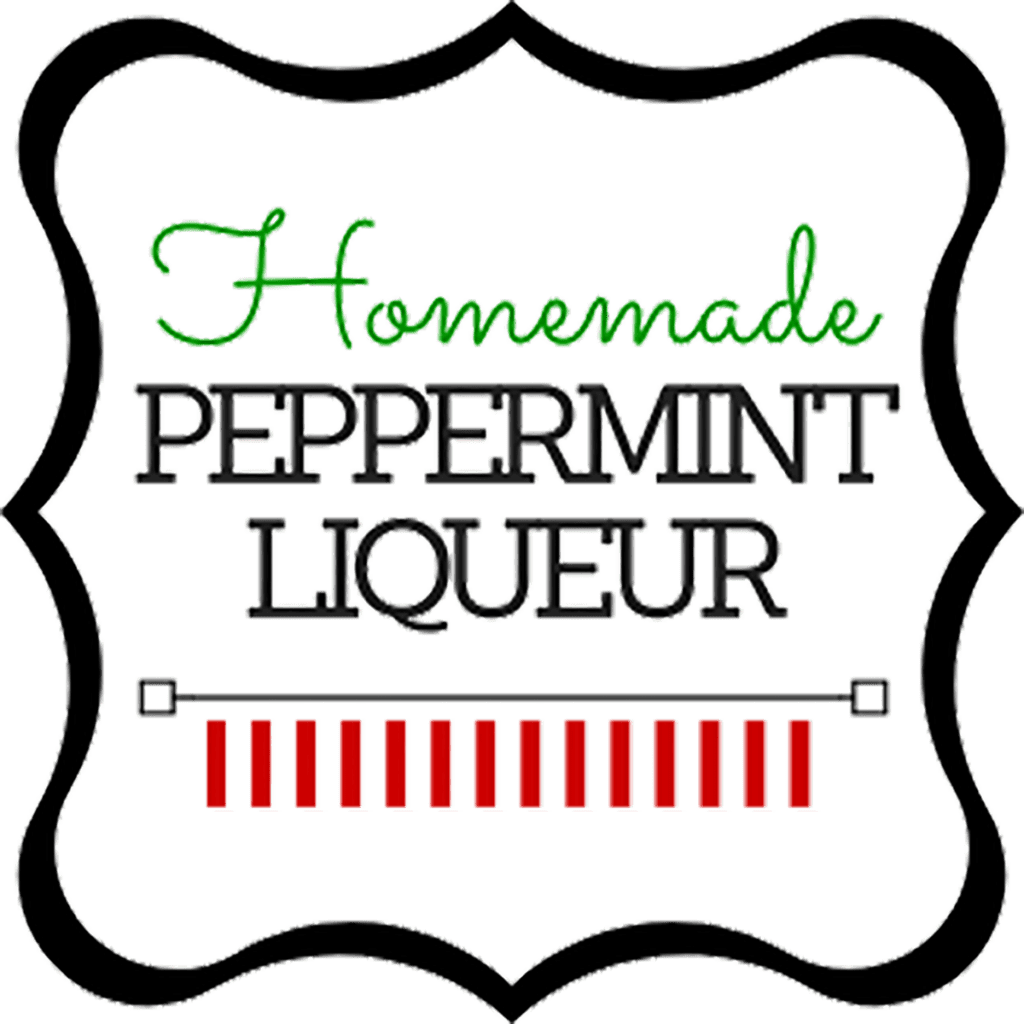 Label for a homemade peppermint liqueur