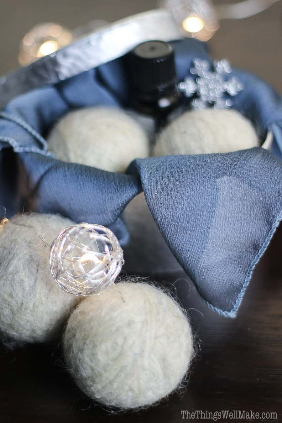 DIY wool dryer balls are easy to make, and are a simple, ecological way to soften clothes and reduce dryer time and static cling.