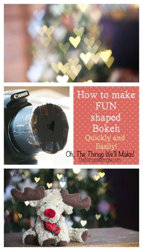 How to quickly and easily make fun bokeh shapes for beautiful pictures.