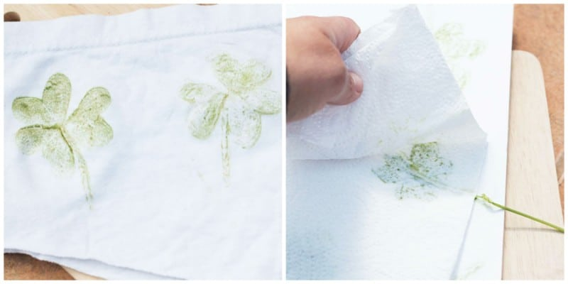 How to make Hammered shamrock prints and clover hearts for St. Patrick's Day!