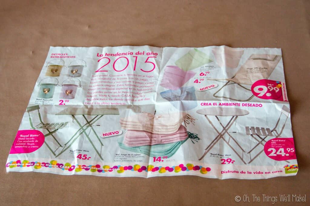 An open newspaper sheet