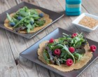 It is possible to make a pliable paleo tortilla or wrap without grains, starches, or ever eggs, using flaxseeds. I love these for making salad wraps.