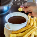 One of Spain's signature recipes, churros are a delicious fried pastry that makes a delicious breakfast or snack. They're also quite simple to make at home with this easy recipe. #churros #spanishcuisine #spanishrecipes #dessertrecipes #thethingswellmake #chocolateconchurros #donutrecipes #breakfastrecipes