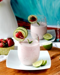 Strawberry Key Lime Banana Protein Smoothie