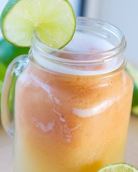 Papaya Limeade Smoothie Float