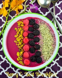 Beet the Heat Breakfast Smoothie bowl