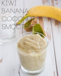 Kiwi Banana Coconut Smoothie