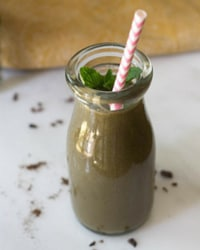 Mint Chocolate Smoothie with Greens