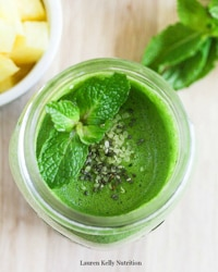 Pineapple Mint Jalapeño Smoothie