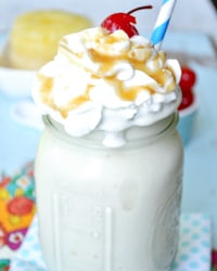Upside Down Pineapple Cake Protein Shake