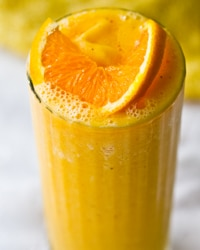 Vibrant Orange Juice Smoothie