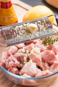 This pork souvlaki marinade recipe will help you prepare a perfectly seasoned and tender souvlaki.