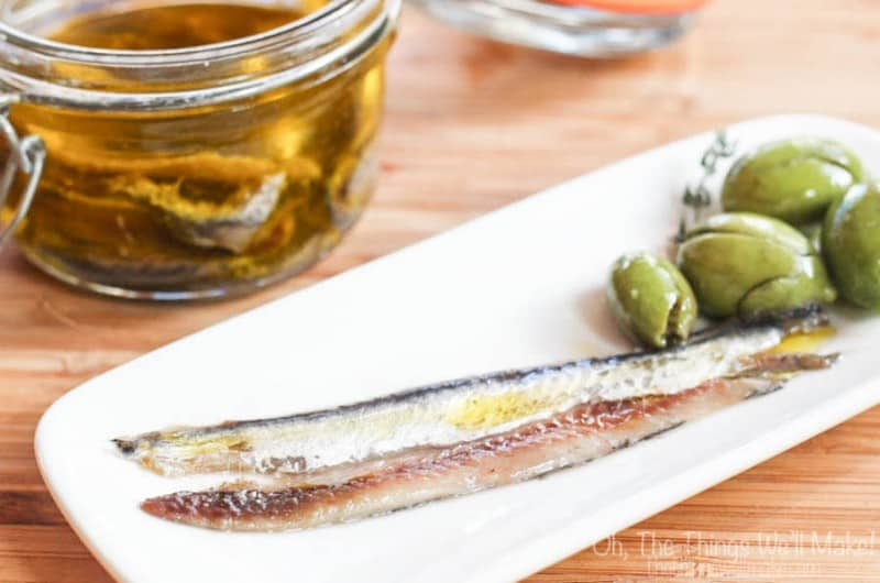 Homemade Salt Cured Anchovy Fillets