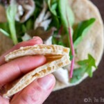If you're looking for the perfect paleo pita for your gyros, souvlaki, kebabs, or sandwich or salad wraps, this is the perfect easy and quick recipe. #wraps #paleo #pita