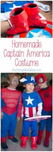 Photos of some kids dressed up in superhero costumes, focusing in on my son dressed as Captain America