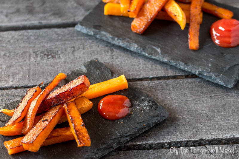 Looking for a fun side dish that's quick and easy to make, and healthier than regular french fries? These baked pumpkin fries are one of our family favorites.
